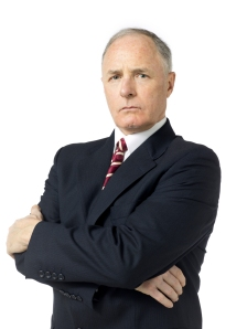 portrait of businessman looking at the camera